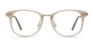 Matte Beige Cosmo -  Metal Eyeglasses
