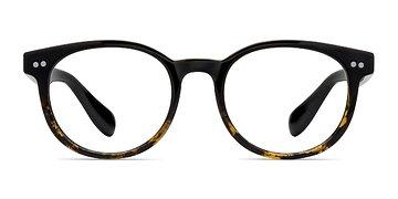 Brown Floral Achiever -  Plastic Eyeglasses