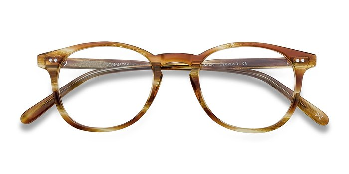 Striped Caramel Symmetry -  Acetate Eyeglasses