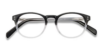 Clear Black Split -  Acetate Eyeglasses