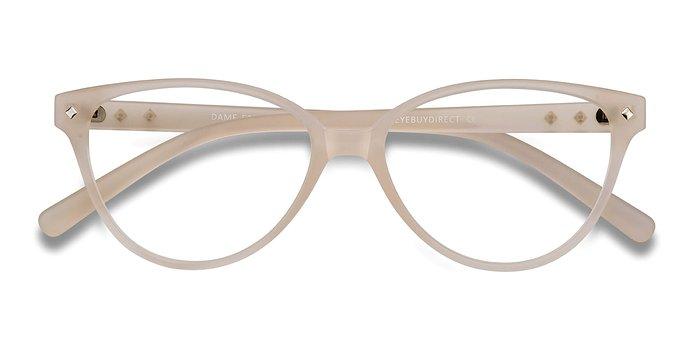 Matte Clear Dame -  Vintage Plastic Eyeglasses