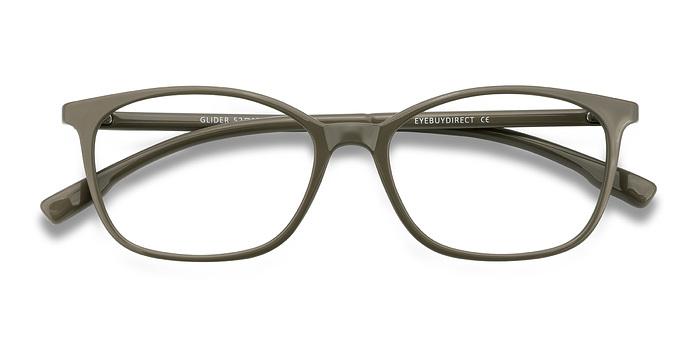 Glider Olive Green Plastic Eyeglasses EyeBuyDirect