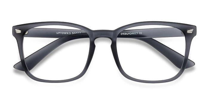 Matte Gray Uptown -  Plastic Eyeglasses