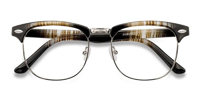 Striped Coexist -  Metal Eyeglasses