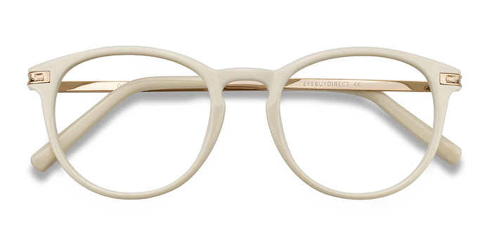 White Daphne -  Plastic Eyeglasses