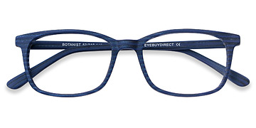 Navy Striped Botanist -  Acetate Eyeglasses