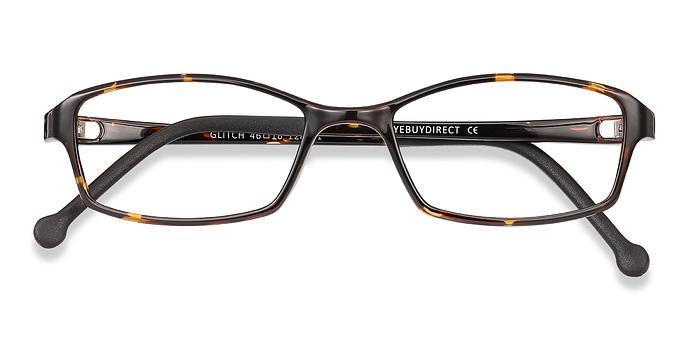 Tortoise Glitch -  Plastic Eyeglasses
