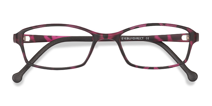Tortoise Purple Glitch -  Plastic Eyeglasses