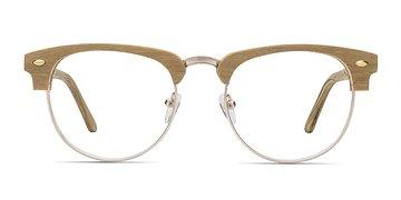 Yellow Esteban M -  Wood Texture Eyeglasses