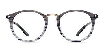 Gray Striped La Femme -  Acetate Eyeglasses
