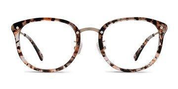 Brown Floral Sakura -  Acetate Eyeglasses