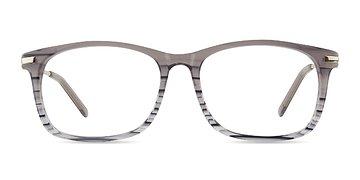 Gray Striped Phase -  Acetate Eyeglasses