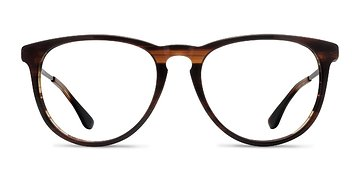 Brown Striped Ultraviolet -  Acetate Eyeglasses