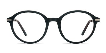 Matte Brown Juno -  Metal Eyeglasses