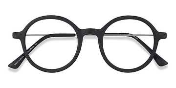 Matte Black Potter -  Classic Metal Eyeglasses