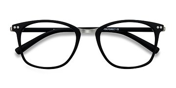 Matte Black Savannah -  Classic Metal Eyeglasses
