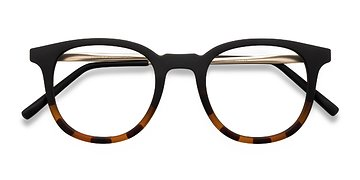 Striped Black Chance -  Metal Eyeglasses
