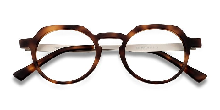 Matte Tortoise Phantasm -  Vintage Acetate Eyeglasses