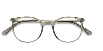 Clear Gray Marilou -  Metal Eyeglasses