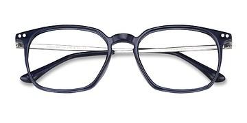 Navy Ghostwriter -  Metal Eyeglasses