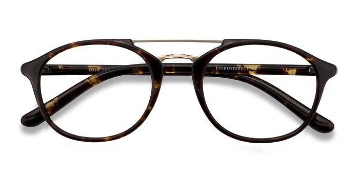 Tortoise  Lola -  Vintage Metal Eyeglasses