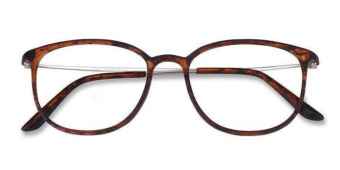 Matte Tortoise Strike -  Metal Eyeglasses