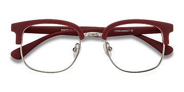 Matte Burgundy Yokote -  Plastic Eyeglasses