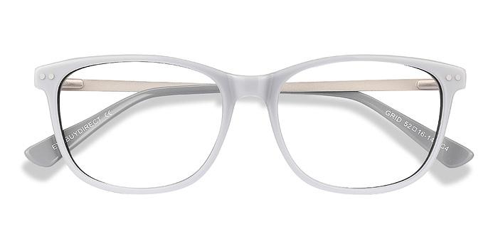 Gray Grid -  Acetate Eyeglasses
