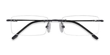 Black Billings -  Lightweight Metal Eyeglasses