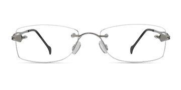 Silver Rivet -  Lightweight Metal Eyeglasses