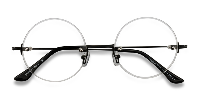 Black Palo Alto -  Metal Eyeglasses