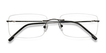 Black Woodrow -  Metal Eyeglasses