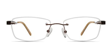 Brown Minute -  Lightweight Metal Eyeglasses