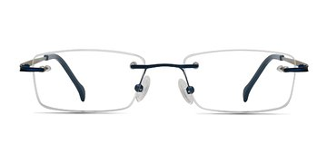 Navy Howard -  Metal Eyeglasses