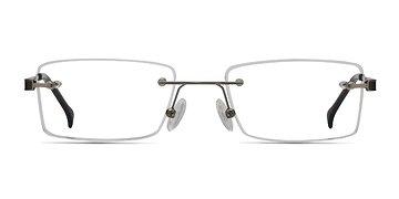 Silver Pyramids -  Lightweight Metal Eyeglasses