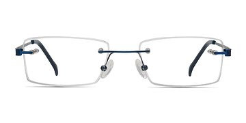 Blue Pyramids -  Lightweight Metal Eyeglasses
