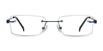 Blue Pyramids -  Metal Eyeglasses