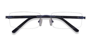 Navy Montecelio -  Metal Eyeglasses