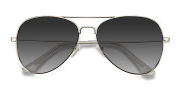Silver Good vibrations -  Metal Sunglasses