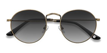 Brown Disclosure -  Vintage Metal Sunglasses