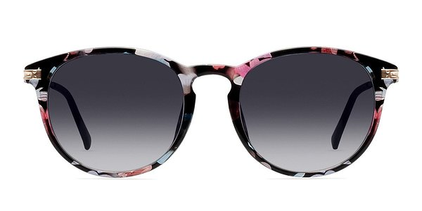Monroe prescription sunglasses (Pink/Floral)