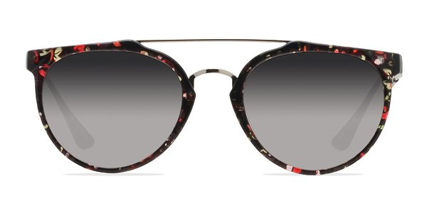 Chillang prescription sunglasses (Silver/Floral)