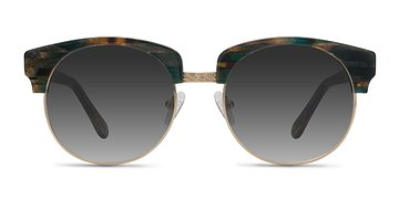 Green Striped  Simone -  Acetate Sunglasses