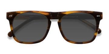Brown Striped Miami -  Acetate Sunglasses