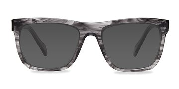 Gray Strip Virtual -  Acetate Sunglasses