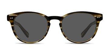 Brown Striped Till Dawn -  Acetate Sunglasses