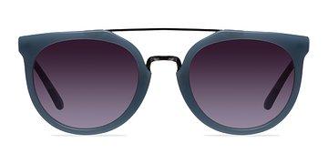 Blue/Silver Bali -  Acetate Sunglasses