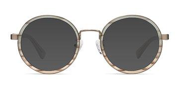 Brown Striped Bounce -  Acetate Sunglasses