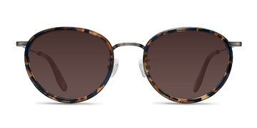 Blue Floral  Sun Tea -  Acetate Sunglasses