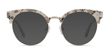 Ivory Floral Silicate -  Acetate Sunglasses